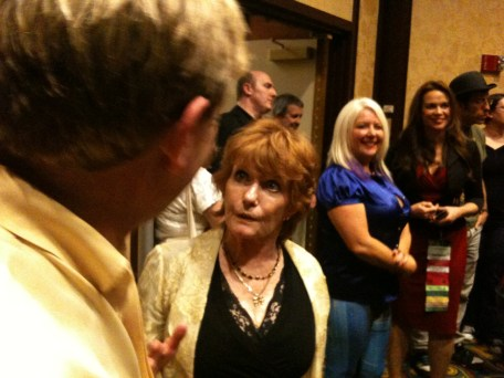 Gallifrey One 2013 - Mark Strickson & Deborah Watling, with Sam Stone and Chase Masterson in background.