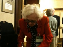 June Hudson - writing down my email address!