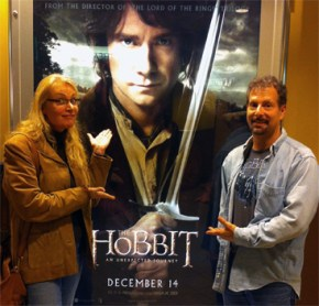 """Vito and I went to see Sylvester McCoy in """"The Hobbit"""""""