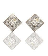 Square shaped American Diamond Pendant and Earrings