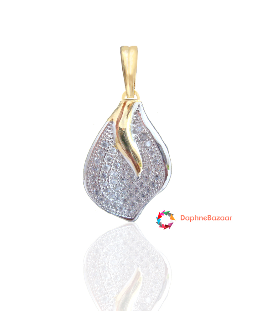 Designer american diamond leaf pendant and earrings designer american diamond leaf pendant mozeypictures Image collections