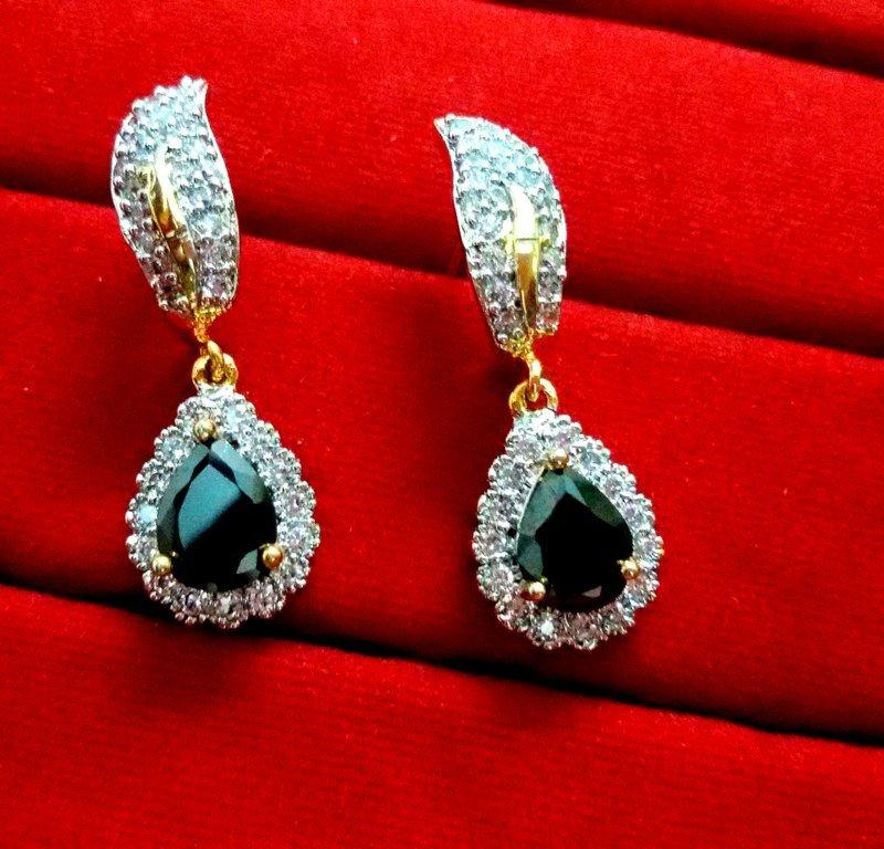 Daphne Sparkling Zircon Black Shade earrings for Women 994f95a56c