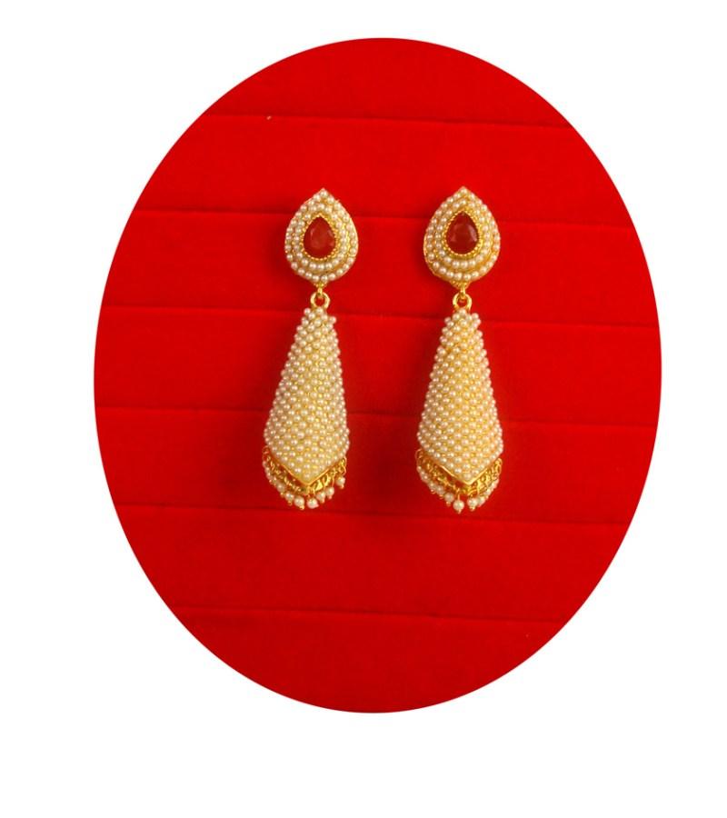 Designer Earring With Golden Hanging Balls Christmas Gift For Her Fe76
