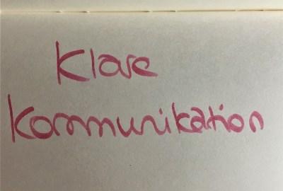 Bild zu klare Kommunikation