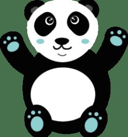Panda Kawaii Bleu