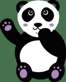 Panda Kawaii Violet