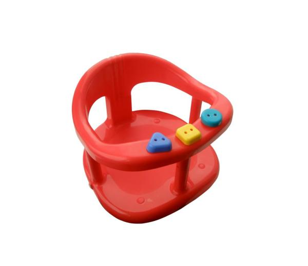 Baby Bath Safety Seat Tub Ring Red Anti Slip Chair Seats Shower