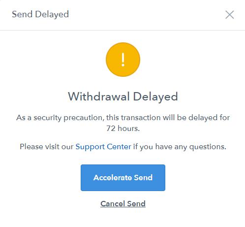 Coinbase-withdrawal-delayed