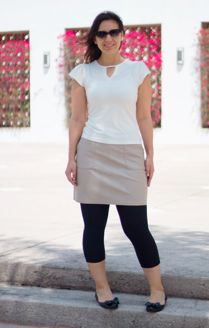 faux-leather-taupe-pencil-skirt-vegan