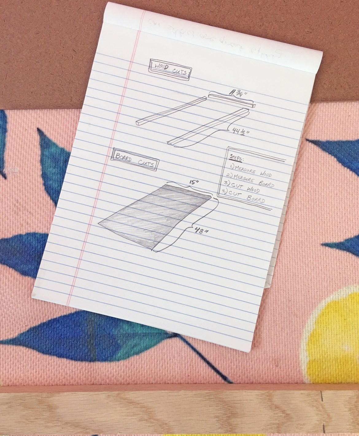 How to build a dog ramp tutorial - diagram