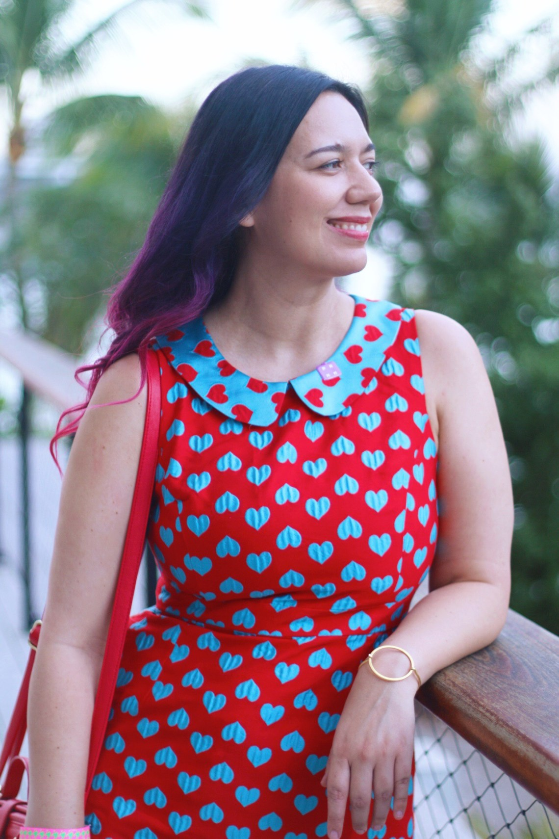 Heart Pattern Peter Pan Collar Dress perfect to wear to a Museum opening event