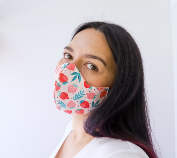 Reversible, double sided, Colorful, fun, and stylish strawberry face masks for adults