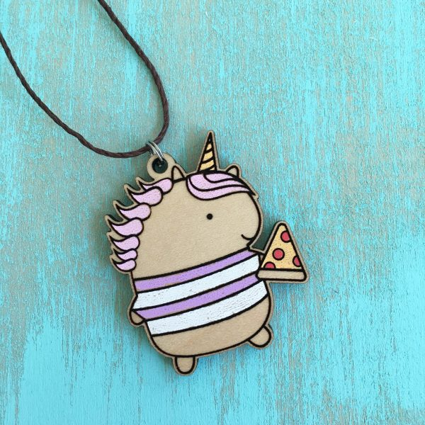 Unicorn Pizza Necklace