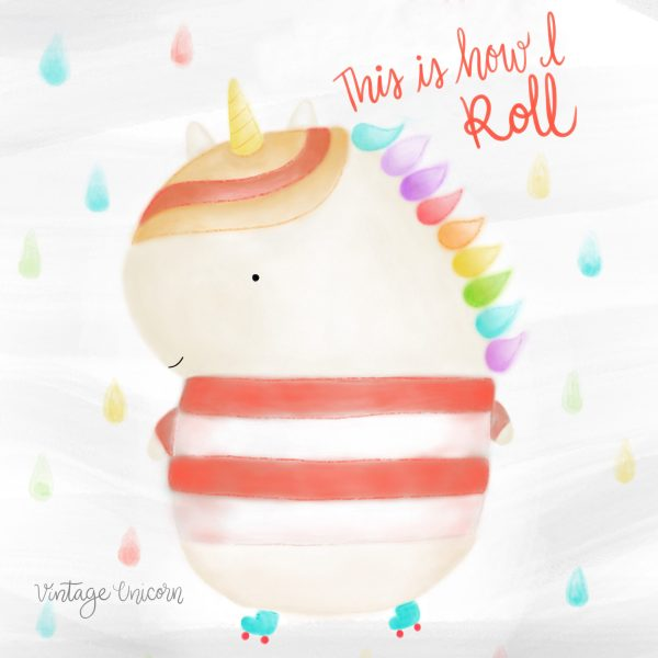 This is how I roll Unicorn on skates print