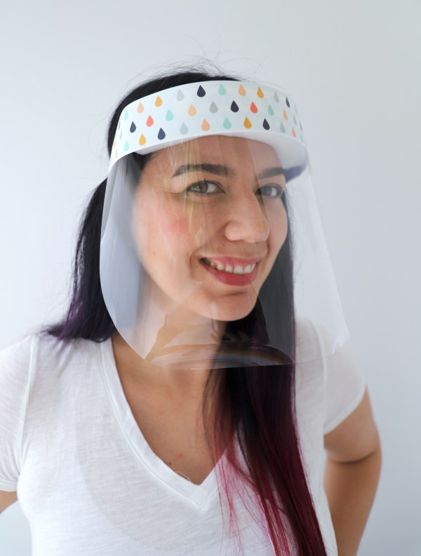Raindrops Protective Face Shield in White