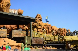 The newly refurbished Calico Mine Ride
