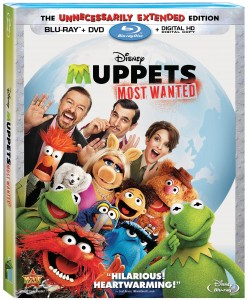 Muppets Most Wanted Blu-Ray Combo Art