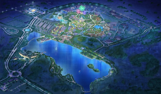 Birdseye View of Shanghai Disney Resort
