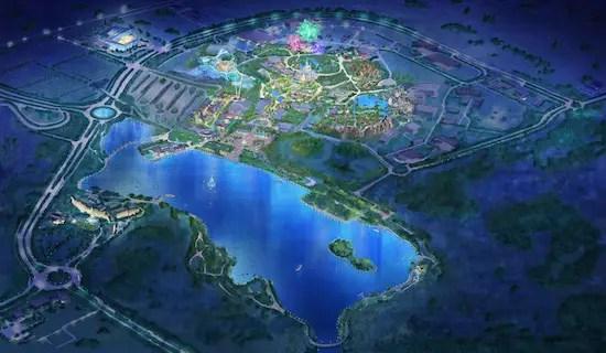 Birdseye View of Shanghai Disney Resort