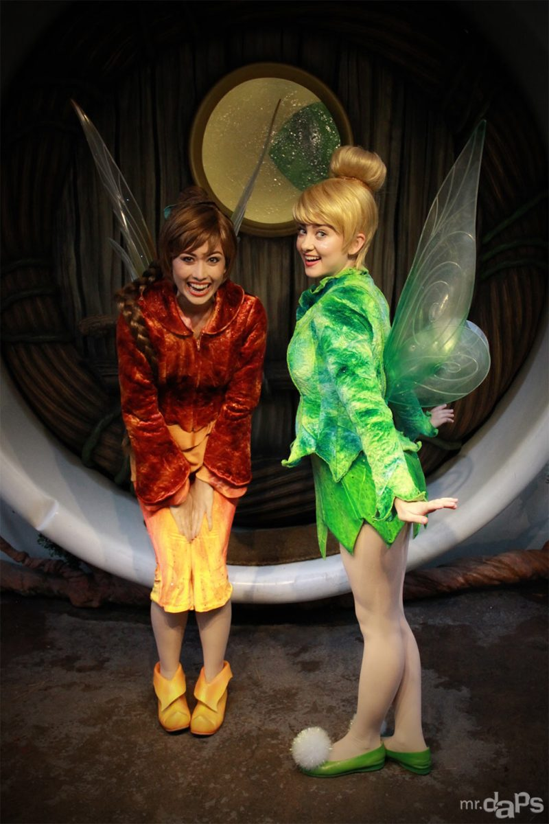 Tinker Bell & Fawn at Disneyland on a Rainy Day