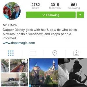 Mr. DAPs on Instagram