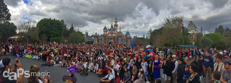 Dapper Day Photo in Front of Sleeping Beauty Castle at Disneyland