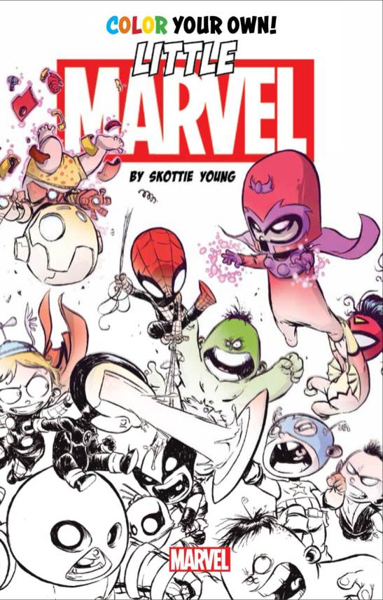 Little_Marvel_by_Skottie_Young_Coloring_Book_Cober