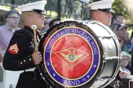 United States 3rd Marine Aircraft Wing Band from Miramar, CA on Main Street, USA at Disneyland on the Fourth of July (DAPs Magic)
