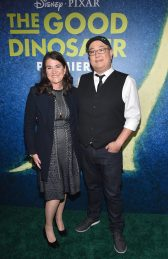 HOLLYWOOD, CA - NOVEMBER 17: Producer Denise Ream (L) and director Peter Sohn attend the World Premiere Of Disney-Pixar's THE GOOD DINOSAUR at the El Capitan Theatre on November 17, 2015 in Hollywood, California. (Photo by Alberto E. Rodriguez/Getty Images for Disney) *** Local Caption *** Denise Ream; Peter Sohn