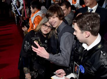 HOLLYWOOD, CA - DECEMBER 14: Actress Carrie Fisher attends the World Premiere of ?Star Wars: The Force Awakens? at the Dolby, El Capitan, and TCL Theatres on December 14, 2015 in Hollywood, California. (Photo by Alberto E. Rodriguez/Getty Images for Disney) *** Local Caption *** Carrie Fisher