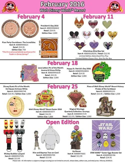 Feb. Disney Pins (1)