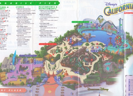 Inside the first California Adventure map