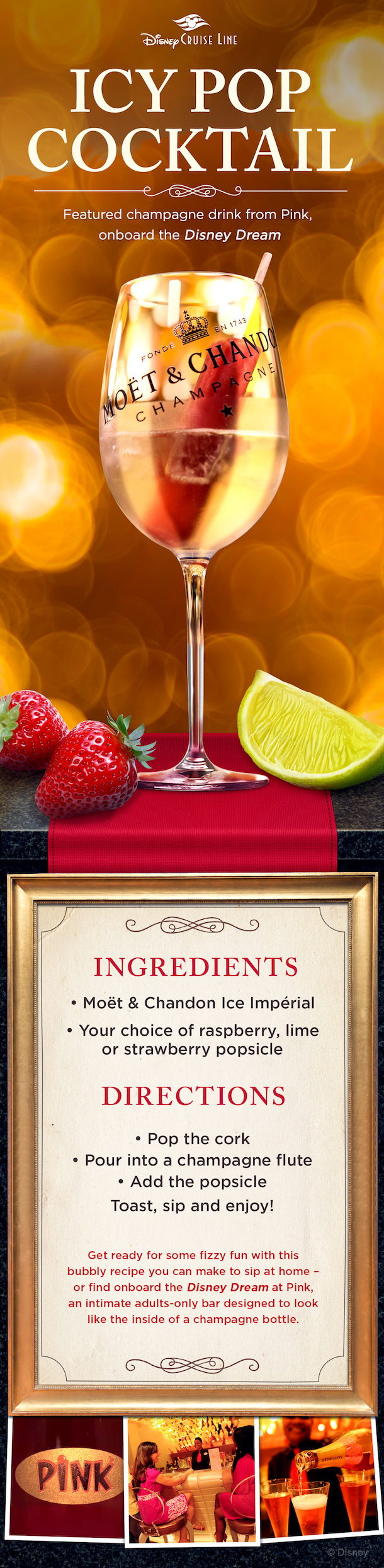 Disney Recipes: Icy Pop Cocktail - Disney Dream