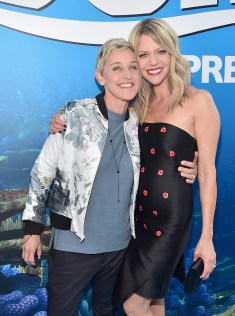 HOLLYWOOD, CA - JUNE 08: Actresses Ellen DeGeneres (L) and Kaitlin Olson attend The World Premiere of Disney-Pixar's FINDING DORY on Wednesday, June 8, 2016 in Hollywood, California. (Photo by Alberto E. Rodriguez/Getty Images for Disney) *** Local Caption *** Ellen DeGeneres; Kaitlin Olson