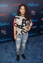 "HOLLYWOOD, CA - NOVEMBER 14: Performer Alessia Cara attends The World Premiere of Disney's ""MOANA"" at the El Capitan Theatre on Monday, November 14, 2016 in Hollywood, CA. (Photo by Jesse Grant/Getty Images for Disney) *** Local Caption *** Alessia Cara"