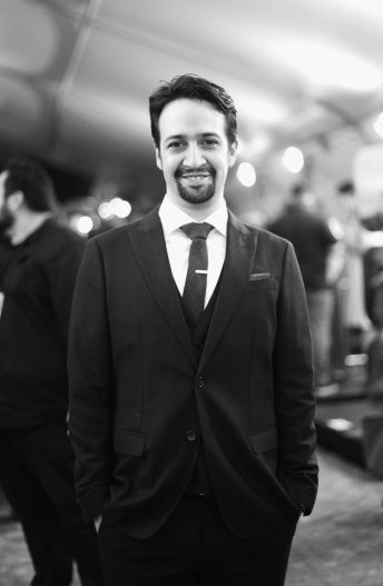 """HOLLYWOOD, CA - NOVEMBER 14: (EDITORS NOTE: Image has been shot in black and white. Color version not available.) Songwriter Lin-Manuel Miranda attends The World Premiere of Disney's """"MOANA"""" at the El Capitan Theatre on Monday, November 14, 2016 in Hollywood, CA. (Photo by Charley Gallay/Getty Images for Disney) *** Local Caption *** Lin-Manuel Miranda"""