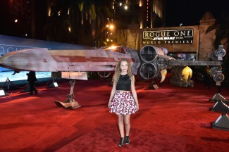 "HOLLYWOOD, CA - DECEMBER 10: Actress Jillian Shea Spaeder attends The World Premiere of Lucasfilm's highly anticipated, first-ever, standalone Star Wars adventure, ""Rogue One: A Star Wars Story"" at the Pantages Theatre on December 10, 2016 in Hollywood, California. (Photo by Marc Flores/Getty Images for Disney) *** Local Caption *** Jillian Shea Spaeder"