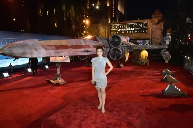 "HOLLYWOOD, CA - DECEMBER 10: Internet personality Rosanna Pansino attends The World Premiere of Lucasfilm's highly anticipated, first-ever, standalone Star Wars adventure, ""Rogue One: A Star Wars Story"" at the Pantages Theatre on December 10, 2016 in Hollywood, California. (Photo by Marc Flores/Getty Images for Disney) *** Local Caption *** Rosanna Pansino"