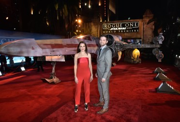 "HOLLYWOOD, CA - DECEMBER 10: Actors Rachael Leigh Cook (L) and Daniel Gillies attend The World Premiere of Lucasfilm's highly anticipated, first-ever, standalone Star Wars adventure, ""Rogue One: A Star Wars Story"" at the Pantages Theatre on December 10, 2016 in Hollywood, California. (Photo by Marc Flores/Getty Images for Disney) *** Local Caption *** Rachael Leigh Cook; Daniel Gillies"