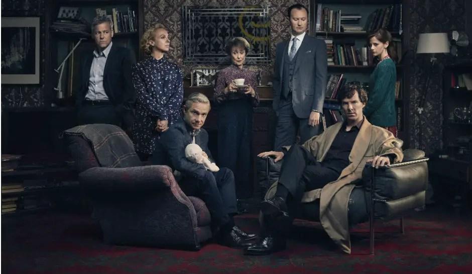 Sherlock Series 4 Cast Photo