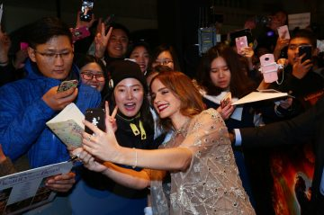 Emma Watson attended the China Premiere of Beauty and the Beast in Shanghai.
