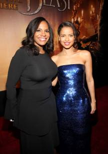 "LOS ANGELES, CA - MARCH 02: Actresses Audra McDonald and Gugu Mbatha-Raw arrive for the world premiere of Disney's live-action ""Beauty and the Beast"" at the El Capitan Theatre in Hollywood as the cast and filmmakers continue their worldwide publicity tour on March 2, 2017 in Los Angeles, California. (Photo by Jesse Grant/Getty Images for Disney) *** Local Caption *** Audra McDonald; Gugu Mbatha-Raw"