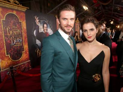 "LOS ANGELES, CA - MARCH 02: Actors Dan Stevens and Emma Watson arrive for the world premiere of Disney's live-action ""Beauty and the Beast"" at the El Capitan Theatre in Hollywood as the cast and filmmakers continue their worldwide publicity tour on March 2, 2017 in Los Angeles, California. (Photo by Jesse Grant/Getty Images for Disney) *** Local Caption *** Dan Stevens; Emma Watson"