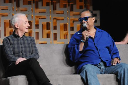 ORLANDO, FL - APRIL 13: Anthony Daniels and Billy Dee Williams attend the 40 YEARS OF STAR WARS PANEL during the 2017 STAR WARS CELEBRATION at Orange County Convention Center on April 13, 2017 in Orlando, Florida. (Photo by Gerardo Mora/Getty Images for Disney) *** Local Caption *** Anthony Daniels, Billy Dee Williams