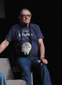 ORLANDO, FL - APRIL 13: Peter Mayhew attends the 40 YEARS OF STAR WARS PANEL during the 2017 STAR WARS CELEBRATION at Orange County Convention Center on April 13, 2017 in Orlando, Florida. (Photo by Gerardo Mora/Getty Images for Disney) *** Local Caption *** Peter Mayhew