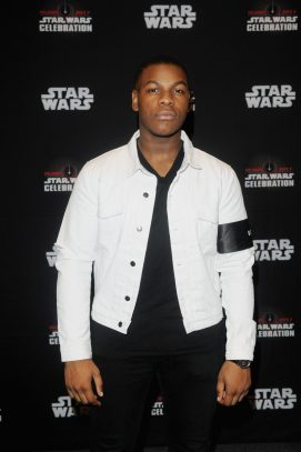 ORLANDO, FL - APRIL 14: John Boyega attends the STAR WARS: THE LAST JEDI PANEL during the 2017 STAR WARS CELEBRATION at Orange County Convention Center on April 14, 2017 in Orlando, Florida. (Photo by Gerardo Mora/Getty Images for Disney) *** Local Caption *** John Boyega