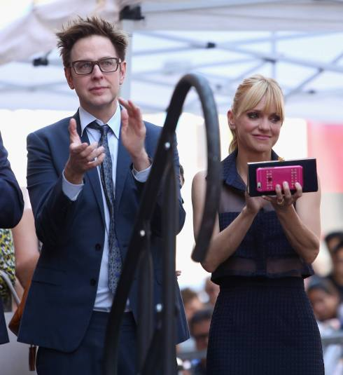 HOLLYWOOD, CA - APRIL 21: Writer/director James Gunn (L) and actor Anna Faris at the Chris Pratt Walk Of Fame Star Ceremony on April 21, 2017 in Hollywood, California. (Photo by Jesse Grant/Getty Images for Disney) *** Local Caption *** James Gunn; Anna Faris