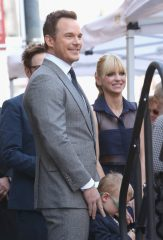 HOLLYWOOD, CA - APRIL 21: (L-R) Actor Chris Pratt, Jack Pratt and actor Anna Faris at the Chris Pratt Walk Of Fame Star Ceremony on April 21, 2017 in Hollywood, California. (Photo by Jesse Grant/Getty Images for Disney) *** Local Caption *** Chris Pratt; Jack Pratt; Anna Faris