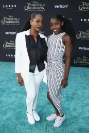 "HOLLYWOOD, CA - MAY 18: Actor Tichina Arnold (L) and Alijah Kai Haggins at the Premiere of Disney's and Jerry Bruckheimer Films' ""Pirates of the Caribbean: Dead Men Tell No Tales,"" at the Dolby Theatre in Hollywood, CA with Johnny Depp as the one-and-only Captain Jack in a rollicking new tale of the high seas infused with the elements of fantasy, humor and action that have resulted in an international phenomenon for the past 13 years. May 18, 2017 in Hollywood, California. (Photo by Rich Polk/Getty Images for Disney) *** Local Caption *** Tichina Arnold; Alijah Kai Haggins"