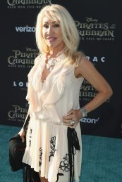 """HOLLYWOOD, CA - MAY 18: Songwriter Linda Thompson at the Premiere of Disney's and Jerry Bruckheimer Films' """"Pirates of the Caribbean: Dead Men Tell No Tales,"""" at the Dolby Theatre in Hollywood, CA with Johnny Depp as the one-and-only Captain Jack in a rollicking new tale of the high seas infused with the elements of fantasy, humor and action that have resulted in an international phenomenon for the past 13 years. May 18, 2017 in Hollywood, California. (Photo by Rich Polk/Getty Images for Disney) *** Local Caption *** Linda Thompson"""